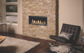In wall fireplace heater