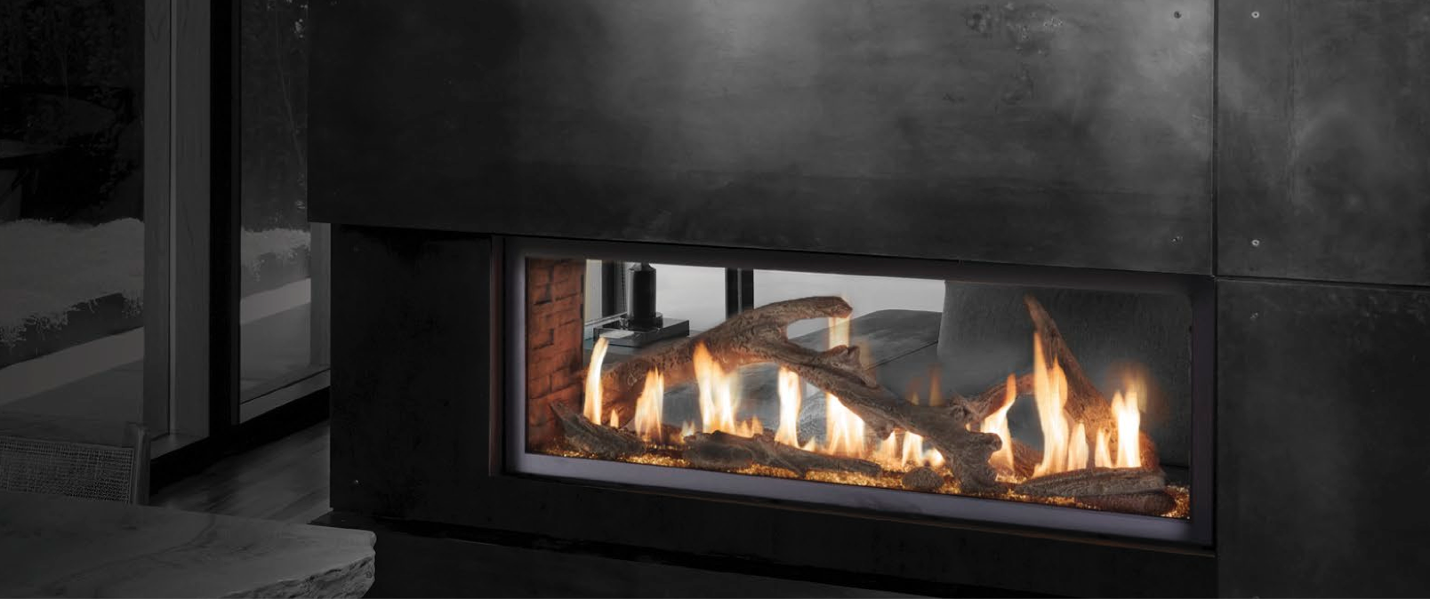 Double Sided Gas Fireplace Lopi 4415st Ho Gs2