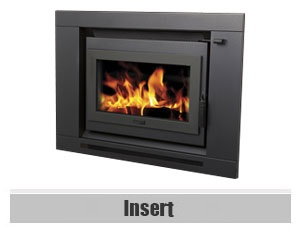 inbuilt wood heater